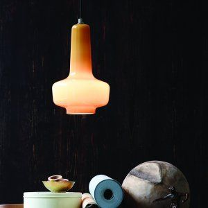 lighting & accessories Herstal Marlin pendant glass lamp, available in different colours, made in Denmark Karlsruhe Velvet-Point