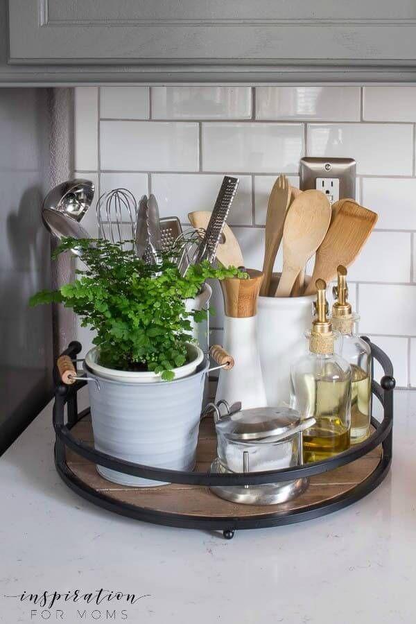 23 Ordentliche, unordentliche Küchenarbeitsplatten Ideen, um Ihre Küche in Form zu halten