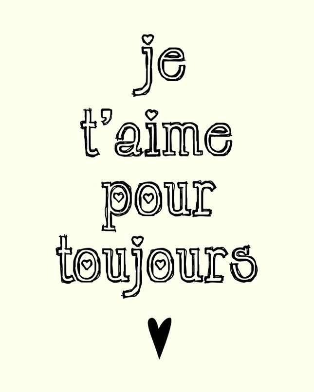 I'll Love You Forever (in French) - 8x10 Art Print. $15.00, via Etsy.