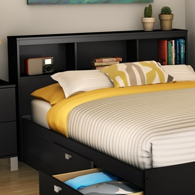 Walmart Spark Shop >> Spark Bookcase Headboard | Head boards, Black and ...