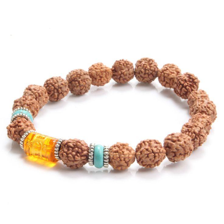 Rudraksha Beads Bracelet Tibet Buddhist Prayer Beads Mala Bracelet Necklace Women Men Jewelry  Fashion Accessories