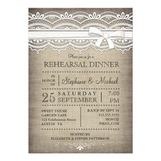>>>This Deals          	Vintage Lace & Linen Rustic Rehearsal Dinner Announcement           	Vintage Lace & Linen Rustic Rehearsal Dinner Announcement in each seller & make purchase online for cheap. Choose the best price and best promotion as you thing Secure Checkout you can trust Buy ...Cleck Hot Deals >>> http://www.zazzle.com/vintage_lace_linen_rustic_rehearsal_dinner_invitation-161407221221241804?rf=238627982471231924&zbar=1&tc=terrest