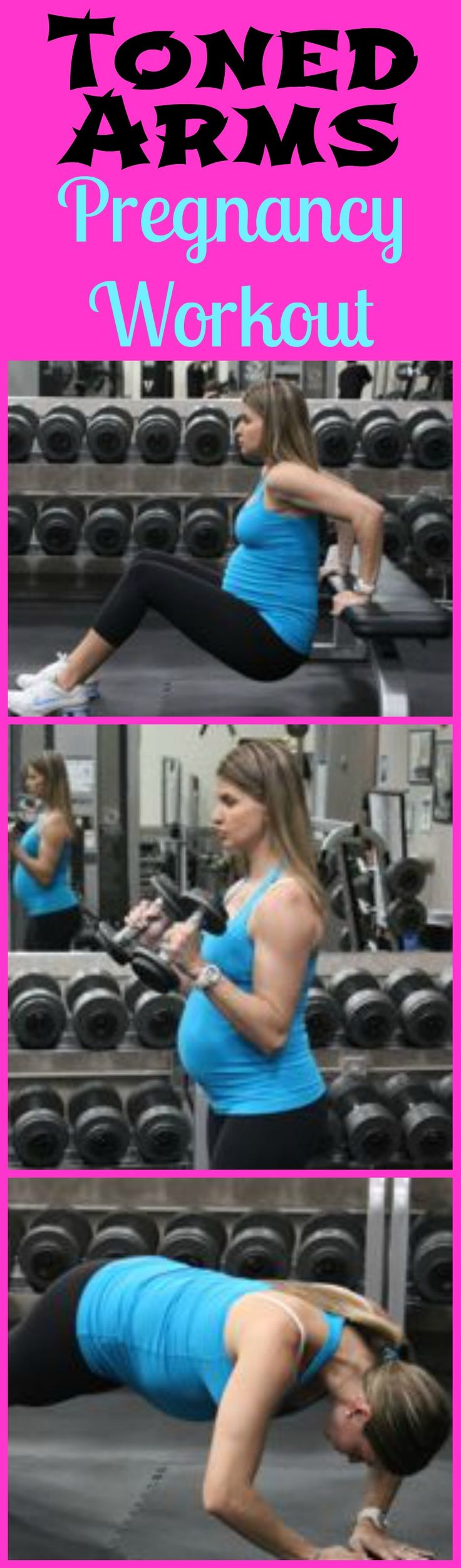 You don't have to have flabby arms just because your pregnant, this is a great pregnancy arms workout that can be done at home to keep the arms toned during pregnancy.