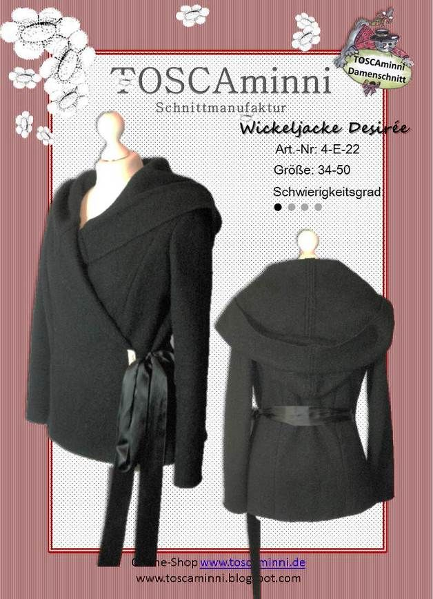 Oberteile & Jacken - Ebook Damenjacke - Wickeljacke Gr. 34-50 - ein Designerstück von TOSCAminni-Schnittmanufaktur bei DaWanda