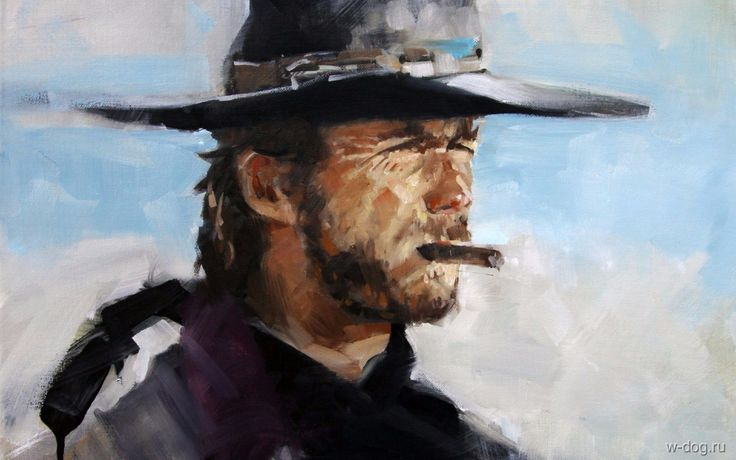 Клинт Иствуд Clint Eastwood сигара лицо вестерн фон HD обои для ноутбука