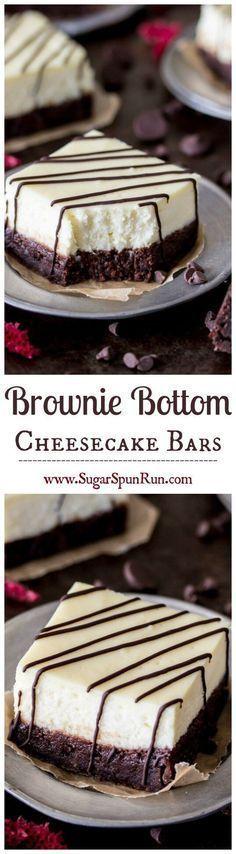 Brownie Cheesecake Riegel – fudgy Brownies mit ein…