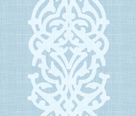 arabesque_linen_light_blue fabric by chicca_besso on Spoonflower - custom fabric