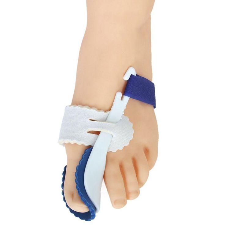 2 PcsPair Big Toe Separator Corrector Straightener Bunion Hallux Valgus Corrector Night Splint Foot Pain Relief Feet Care