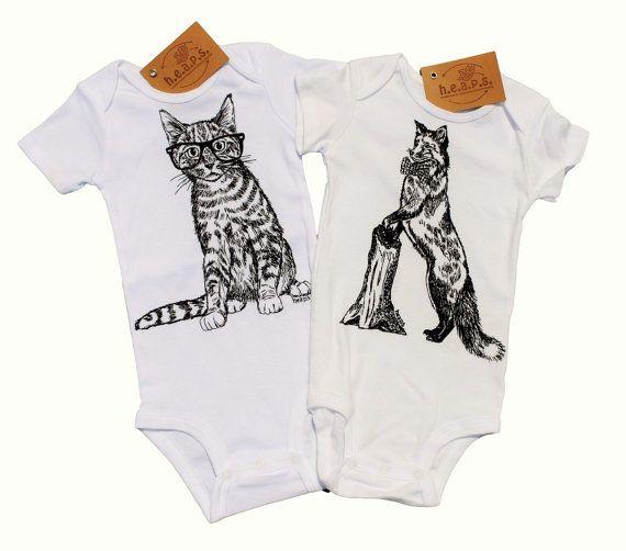 Trendy Baby Boy Clothes - Baby Bodysuits Set - Hipster Baby Boy Clothes - Funny Clothes - Animal Print Jumper - Animal Print Clothing