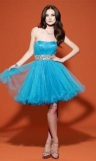 vestido azul para debutantes