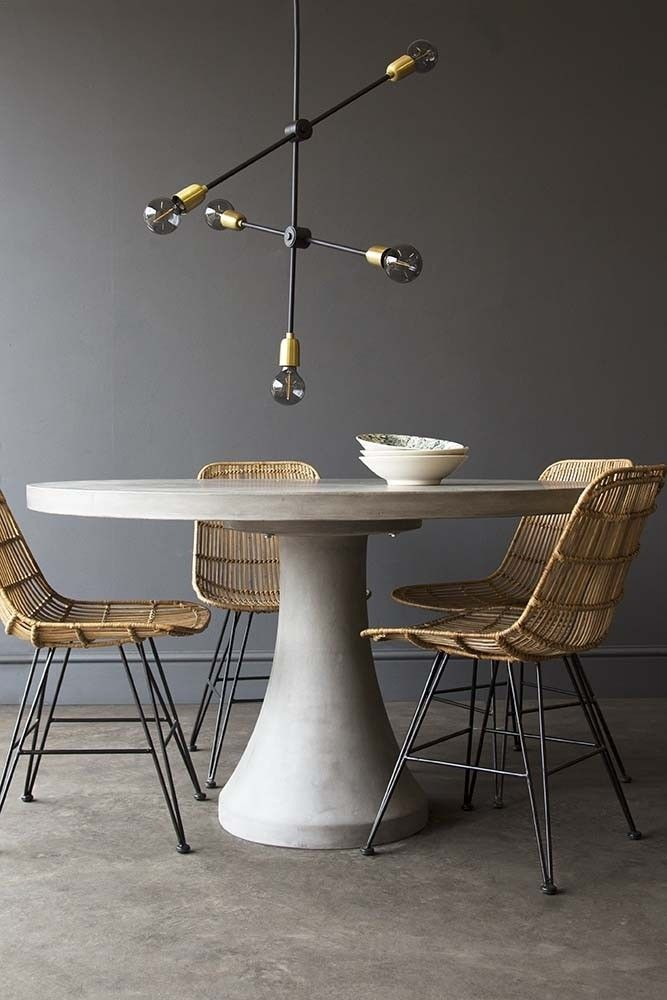 Contemporary Round Table Circular Dining Table Concrete Dining Table Round Concrete Dining Table