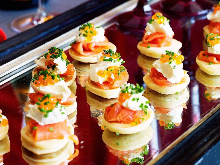 Blinis with smoked salmon Recipe Afternoon tea recipes