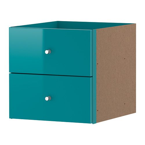 EXPEDIT Insert with 2 drawers IKEA The high-gloss surfaces reflect light and give a vibrant look.