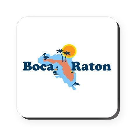 Boca Raton - Map Design. Cork Coaster on CafePress.com