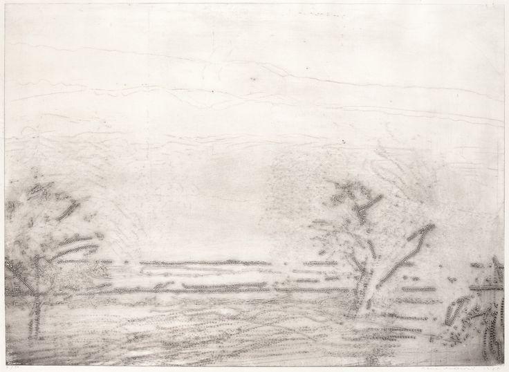 ALENA KUČEROVÁ (1935) STROMY NA LOUCE, 1985