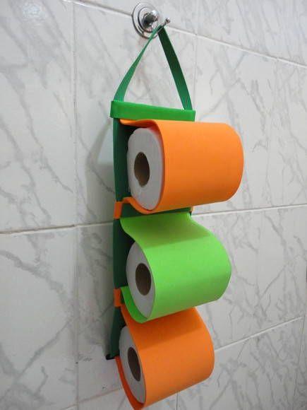 Porta rolo de papel higiênico - E.V.A.