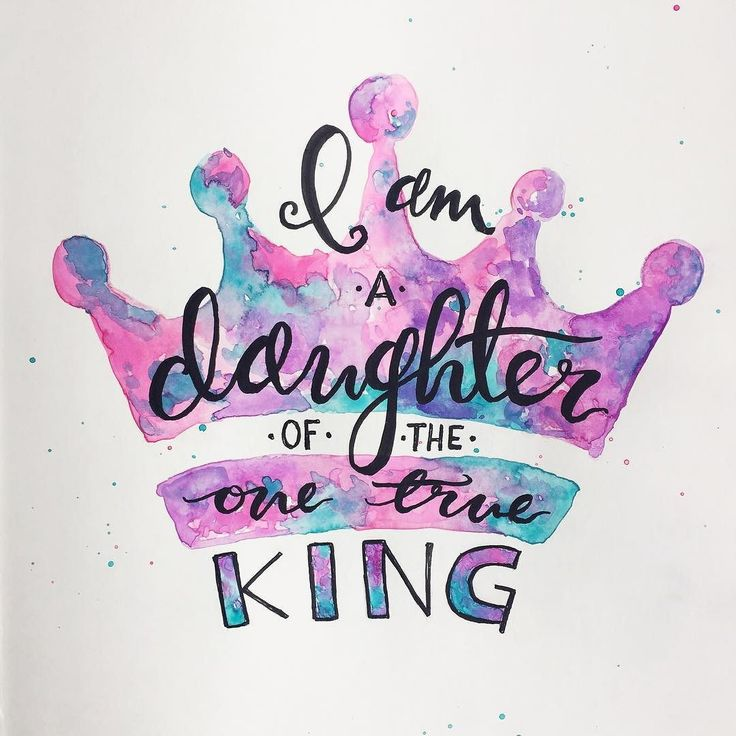 """I was definitely feeling inspired by the @daretobeevent I attended on Thursday night: I am a daughter of the one true King. """"I will be a Father to you and you will be my sons and daughters says the Lord Almighty."""" 2 Corinthians 6:18 by keecreative"""