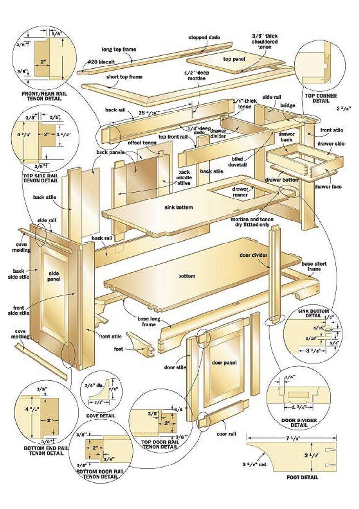 Download 50 free woodworking plans desenhos for Planos de carpinteria