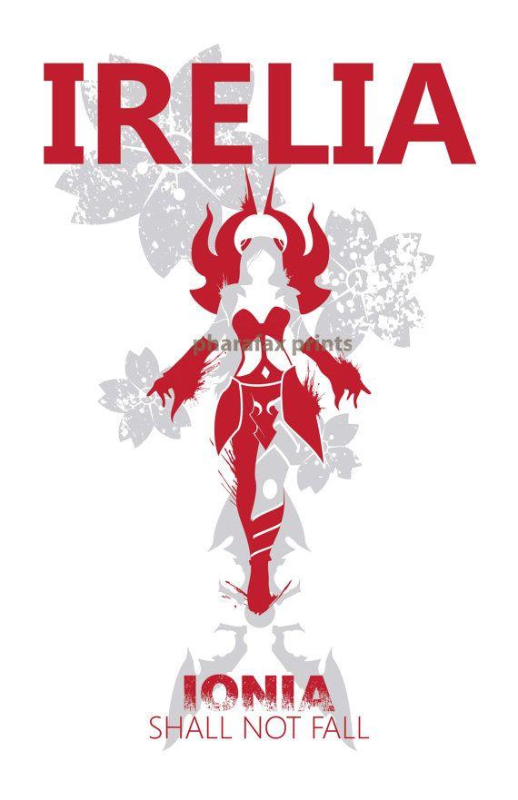 Irelia: League of Legends Print por pharafax en Etsy