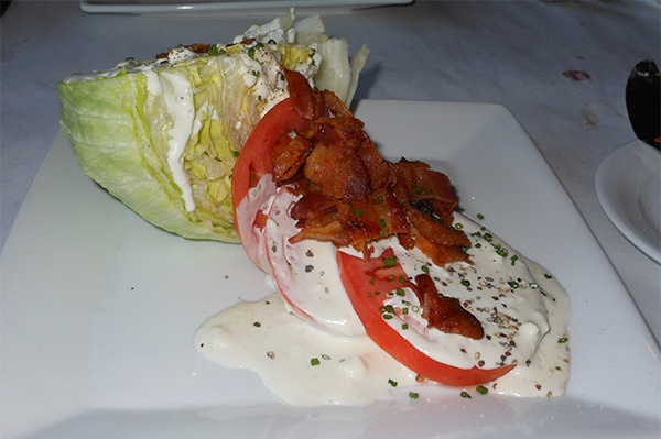 Meal, Nutley, NJ: BLT salad with buttermilk bleu cheese dressing.Thttp ...
