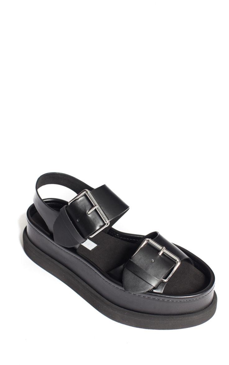Sandales Compensées Noires signées Stella McCartney