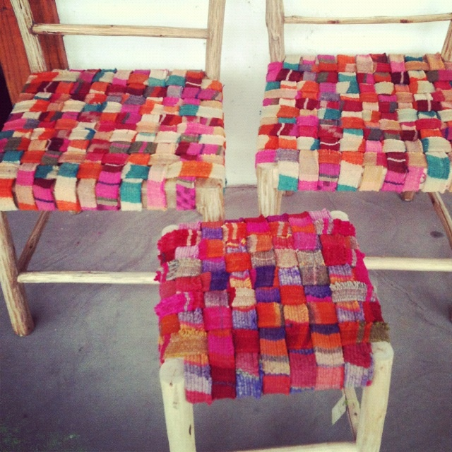 Chairs made with old Aguayos