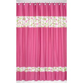 @Overstock.com - Circles Pink and Green Shower Curtain - Add a touch of style and a splash of color to your bathroom with this designer shower curtain. Pair with coordinating Sweet JoJo Designs room accessories to complete the look and feel of your favorite theme.  http://www.overstock.com/Bedding-Bath/Circles-Pink-and-Green-Shower-Curtain/7604250/product.html?CID=214117 $39.99