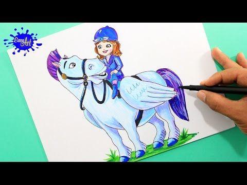 Drawing Princess /Como dibujar la princesita Sofia /how to draw the princess sofia  YouTube