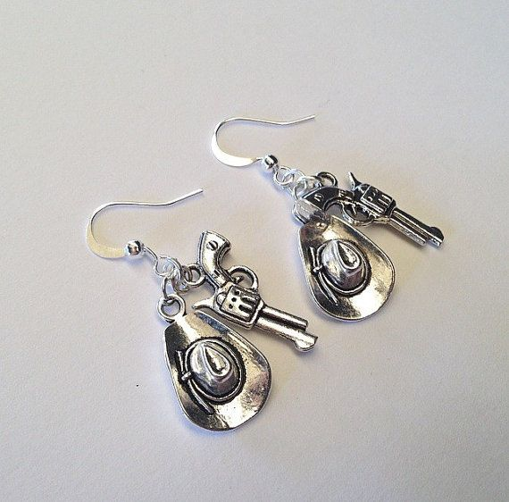 Rick Grimes: The Walking Dead inspired earrings   www.teacuprose.etsy.com