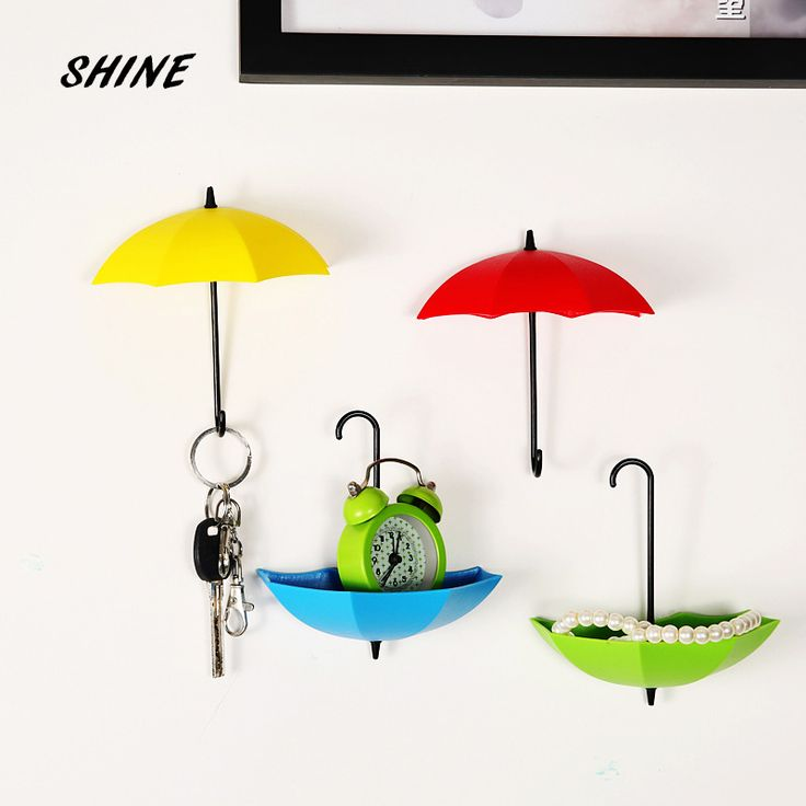Free Shipping 1PCs Umbrella Wall Hook Key Hair Pin Holder Colorful Organizer Decor Decorate bottoni botoes New Arrival #clothing,#shoes,#jewelry,#women,#men,#hats,#watches,#belts,#fashion,#style