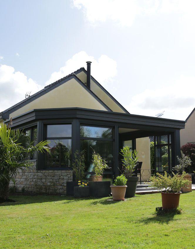v randa conceptalu hom a vue sur le jardin v randas concept alu gamme homea pinterest. Black Bedroom Furniture Sets. Home Design Ideas