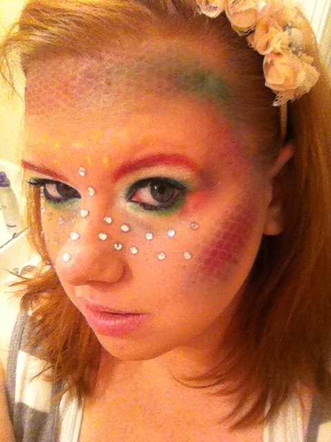 Mermaid makeup for halloween.