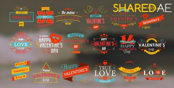 Videohive - Happy Valentine's Day Badges Pack 10298813 - Free Download