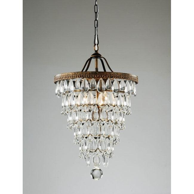 Conical 4 light Antique Brass Crystal Chandelier by The Lighting Store. 15 Must see Bedroom Chandeliers Pins   Chandeliers  Master bedroom