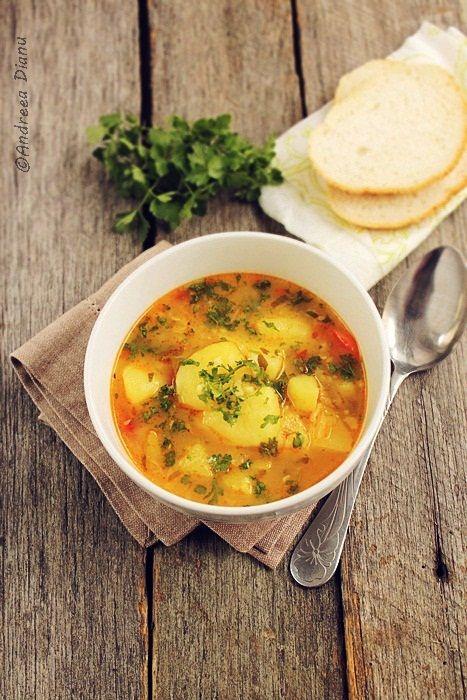 Ciorba de legume cu orez | Pasiune pentru bucatarie