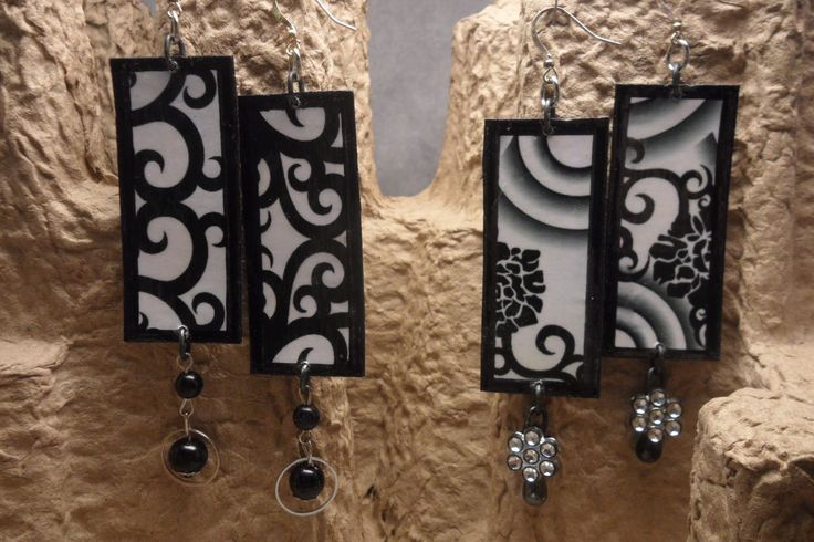 Black & white earrings.