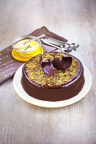 recettes pâtisseries facile gâteau royale au chocolat et crème vanille