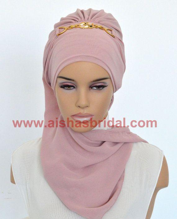 Ready To Wear Hijab  Code: HT-0225 Hijab Muslim by HAZIRTURBAN