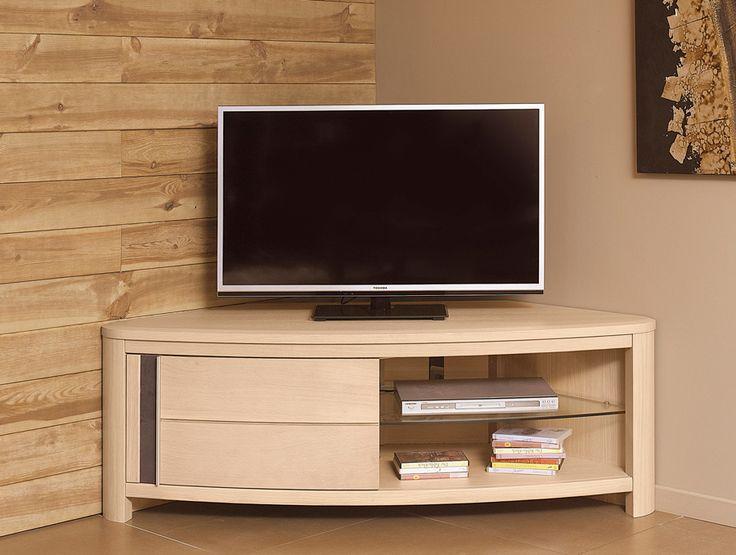 les 25 meilleures id es concernant meuble tv angle sur. Black Bedroom Furniture Sets. Home Design Ideas