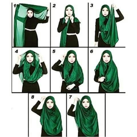 Wide shawl hijab