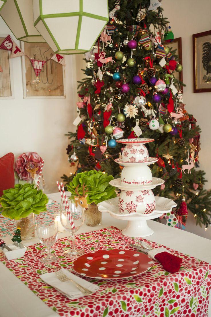 Decoracion de mesas de navidad christmas all around - Adornos navidenos para mesas ...