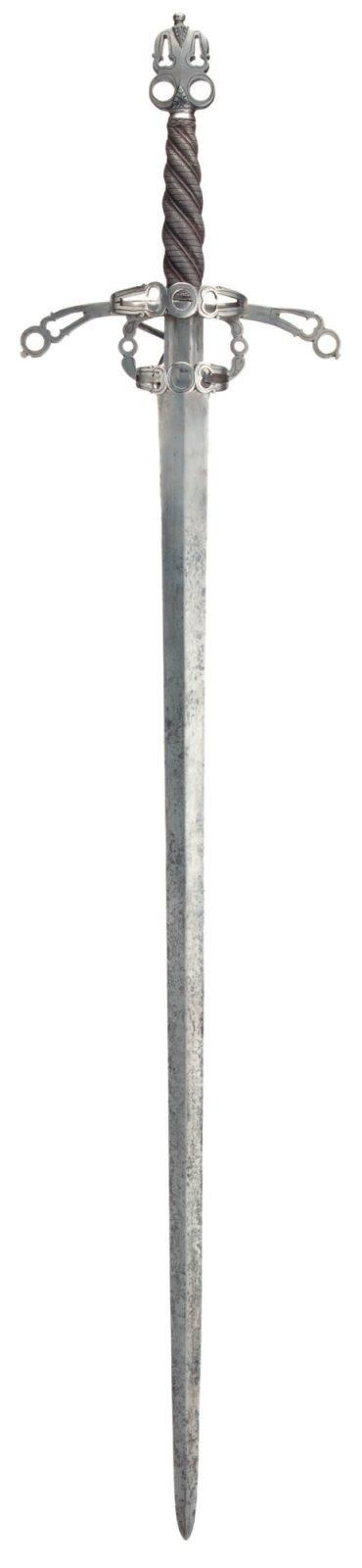 Épée du type à une main et demi, de style fin XVIe siècle. A Broadsword
