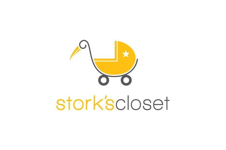 Logo For Stork S Closet A Kids Resale Store In San Antonio Logos Pinterest Logos