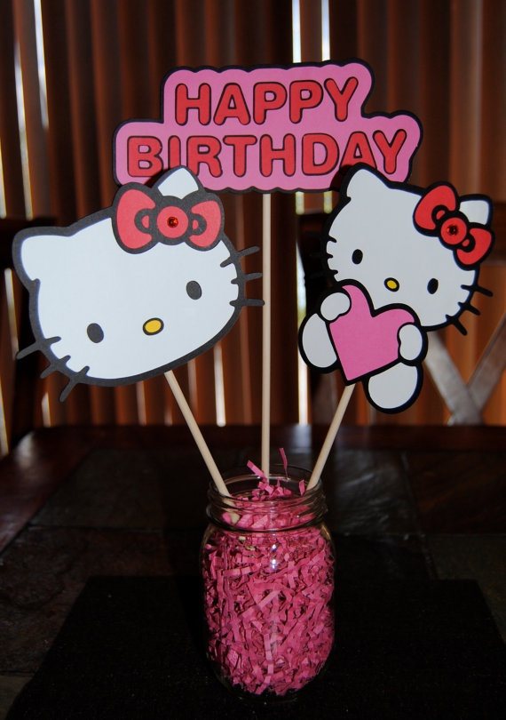 Hello Kitty Inspired Pink Red Birthday Party by Trendycupcakeshop, $24.00