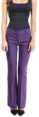 Prada Women's Virgin Wool Slim Fit Chino Pants Purple.