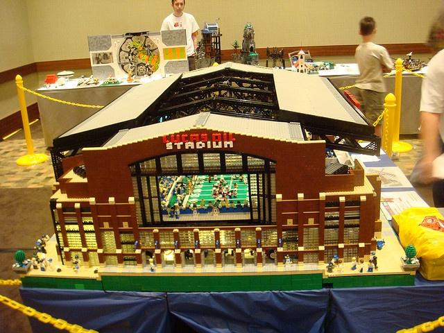 30,000 legos ... Lucas Oil Stadium, Indianapolis | Brian Alano