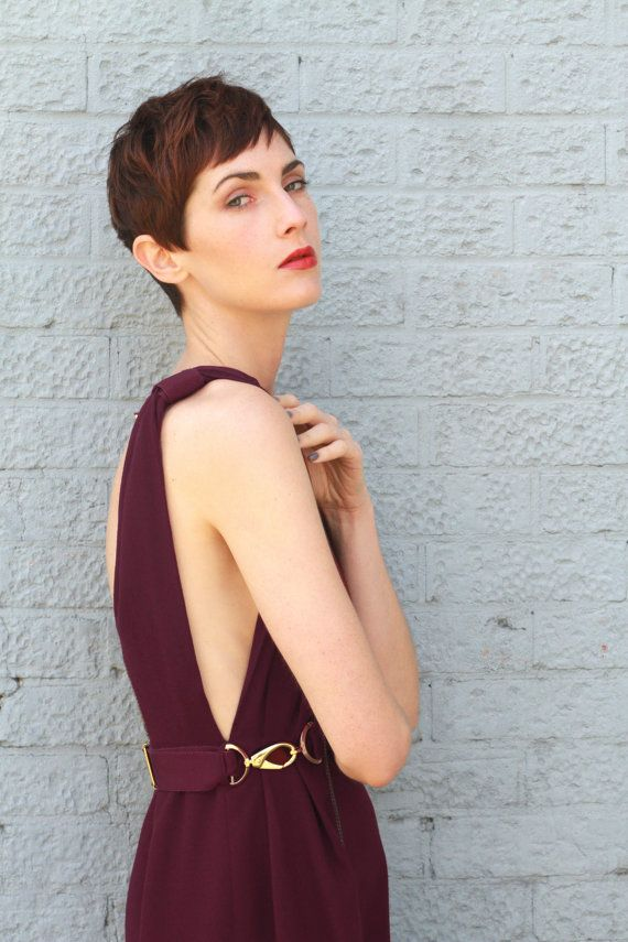 Camille Backless Purple Cocktail Dress by annapopovich on Etsy