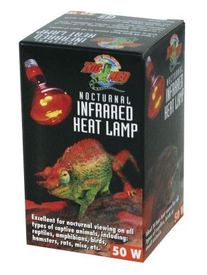 REPTILE - HEATERS/HEAT ROCKS - RED INFRARED HEAT LAMP 50W - - ZOO MED/AQUATROL, INC - UPC: 97612330502 - DEPT: REPTILE PRODUCTS