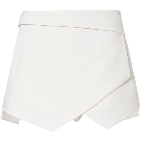 Zara Wrap Mini Skort ($50) ❤ liked on Polyvore