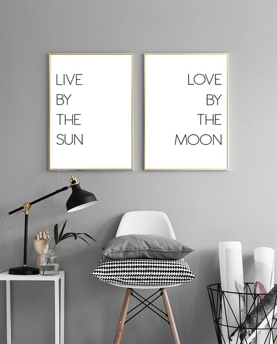 Gallery Wall / Live by the sun Love by the moon by Prints Miuus Studio